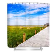 Lonely Pier II Shower Curtain