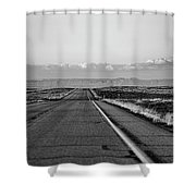 Lonely Route 24 Shower Curtain