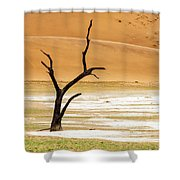 Lonely Tree Skeleton Shower Curtain