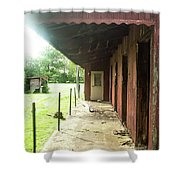 Lonely Stables Shower Curtain