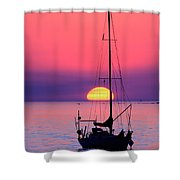 Lonely Sunset Shower Curtain