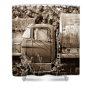 Lonely Truck Shower Curtain
