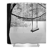 Lonely Winter Swing Ipswich Ma Shower Curtain