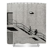 Lonely Zebra Shower Curtain