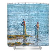 Lonesome Angler Shower Curtain