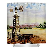 Lonesome Prairie Shower Curtain