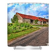 Long Barns Near Avincey - P4a16016 Shower Curtain