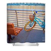 Long Beach Cruiser Shower Curtain