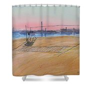 Long Beach Icons Shower Curtain