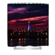 Long Beach Lighthouse II Shower Curtain