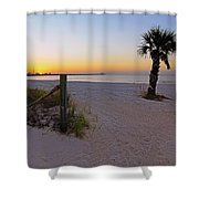 Long Beach Sunrise - Mississippi - Beach Shower Curtain
