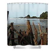 Long Beach, Tofino Shower Curtain