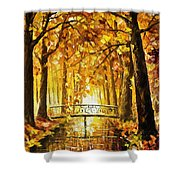 Long Before Winter - Palette Knife Oil Painting On Canvas By Leonid Afremov Shower Curtain