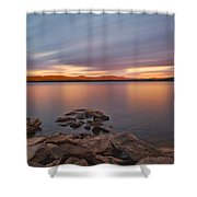 Long Expo Over Connecticut Lake Shower Curtain