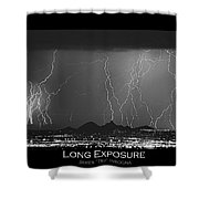 Long Exposure - Bw Poster Shower Curtain
