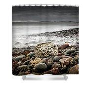 Long Exposure At Lawrencetown Beach, Nova Scotia Shower Curtain