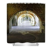 Long Hall At Fort Pickens Shower Curtain