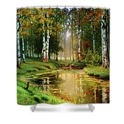 Long Indian Summer In The Woods Shower Curtain