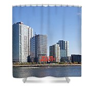 Long Island City Towers Shower Curtain
