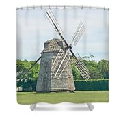 Long Island Wind Mill Shower Curtain