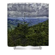 Long Misty Days Shower Curtain
