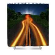 Long Road In Twilight Shower Curtain