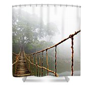 Long Rope Bridge Shower Curtain