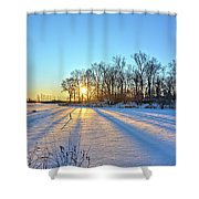 Long Shadows Of Winter 2 Shower Curtain