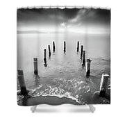 Long Silence Shower Curtain