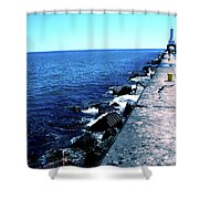Long Thought Shower Curtain