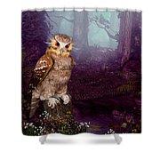 Long Whisker Owl Shower Curtain