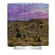 Long Winding Road In Central Oregon Shower Curtain
