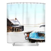 Long Winter Shower Curtain