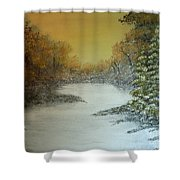 Long Winters Morning Shower Curtain