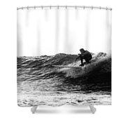 Longboard Shower Curtain by Rick Berk