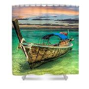 Longboat Sunset Shower Curtain