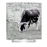 Longhorn Sketch Shower Curtain