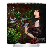 Longing For Springtime Gardens - Texture Shower Curtain