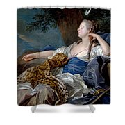 Loo, Louis-michel Van Tolon, 1707 - Paris, 1771 Diana In A Landscape 1739 Shower Curtain