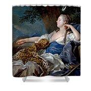 Loo, Louis-michel Van Tolon, 1707 - Paris, 1771 Diana In A Landscape 1739 Shower Curtain