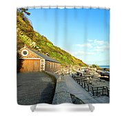 Looe Boathouse Shower Curtain