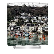 Looe Harbour - Cornwall Shower Curtain