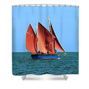 Looe Lugger 'our Daddy' Shower Curtain