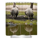 Look At The Best Parts Shower Curtain