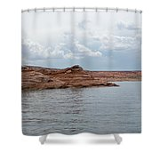 Look Closely - Window Rock Shower Curtain