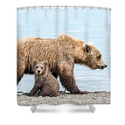 Look Mom Shower Curtain