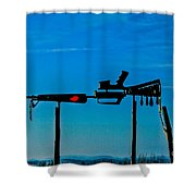 Look Up To The Sky For Rescue Shower Curtain