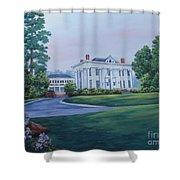 Lookaway Hall Shower Curtain