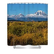 Looking Across Willow Flats To Mt Moran Shower Curtain