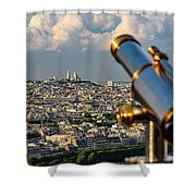 Looking At Sacre-coeur Shower Curtain